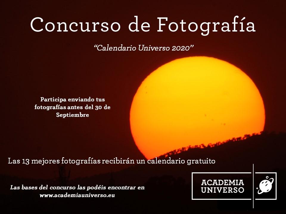 Calendario Universo - Concurso de fotografía
